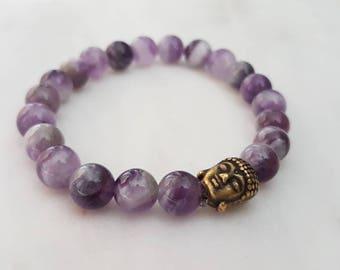 Reiki infused amethsyt mala bracelet