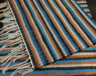 Handmade woven placemats | Striped placemats | Set of 2 | Home decor | Washable placemats |