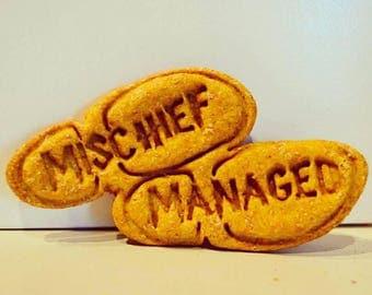 Dante's Mischief Managed Biscuits /Organic Dog Treats /Dog Biscuits /Dog Treats /Dog Cookies /Dog Bakery /Dog Birthday /Dog Owner Gift