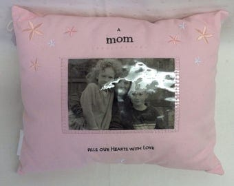 Pink Mom Pillow With Picture Insert