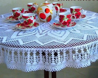 Crochet doily Round tablecloth Crochet tablecloth