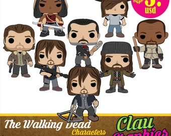 The Walking Dead Cartoons, SVG patterns, amazing details for using on Cricut machine and more, scrapbook, paper craft projects