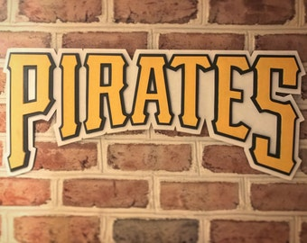 Pittsburgh Pirates limited edition hand made 3d wooden sign man cave office art