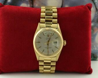Rolex Day-Date Men's Original 18k Yellow Gold Luxury Watch 1803 RARE