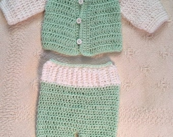 Baby Boy Sweater and Pants 0-3 months