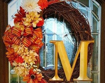 Seasonal Monogram Vine Wreath