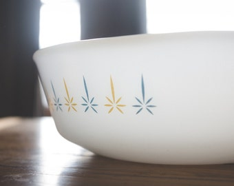 Atomic Candle Fire King Casserole Dish