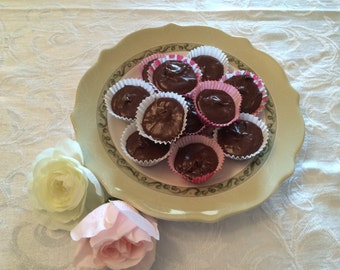 Rich Chocolate Fudge in a Heart Box, Chocolate Candy, Gifts under 20, Gift Basket, Gift Package, Hostess Gift, Gifts under 25