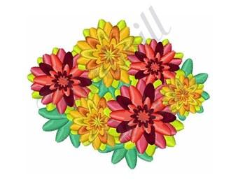 Flower Bouquet - Machine Embroidery Design