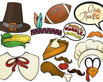 Thanksgiving Photo Booth Props decor decorations game outfit fun