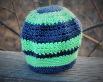 Beanie/Seahawks/12th Man/Seattle/Green/Blue/Washington/Crochet