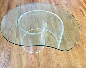 Mid Century Lucite Snail Coffee Table Base