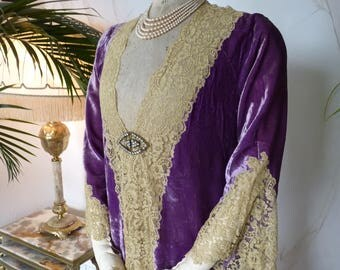 1920s Lingerie Robe, antique dressing gown, antique dress, antique gown