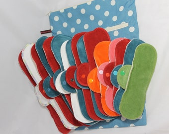 Strong bleeding, bind fabric bandages, panty liners, connective, fabric, panty liner, organic, bio, eco, zero waste, reusable