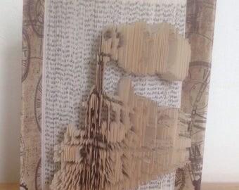 Train #1 cut & fold book art