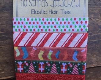 Christmas Themed Holiday Hair Tie Set