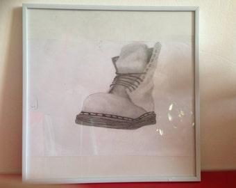 3/4 Dc Martens framed original drawing