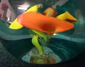 Stunning Art Glass Paperweight/Vintage