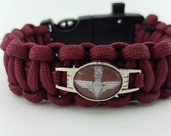 UK Paras Parachute Regiment Badged Bracelet