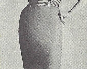 1960s Vintage Sewing Pattern B32-36 DRESS in JERSEY (R923)