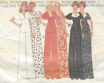 1974 Vintage Sewing Pattern B36-W28 DRESS, PANTS & TOP (R748) McCalls 4248