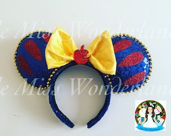 Snowwhite ears, mouse ears, inspired disney ears