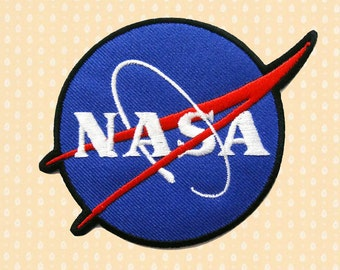 Nasa Logo Sign Symbol Iron On Patch Enbroidered Sew On Apllique DIY Jeans Patches