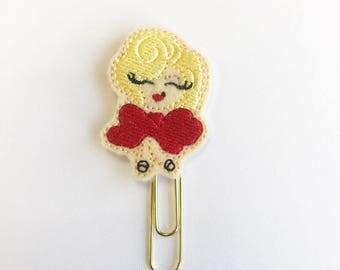 Marilyn paper clip, planner clip, girl paperclip, planner paperclip, planner accessory, fancy girl paperclip, girl bookmark