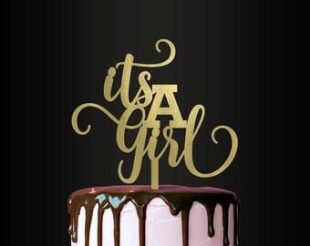 Baby Shower Cake Topper, It's A Girl, Cake Topper, Baby Shower, Gender Reveal Party, Keepsake
