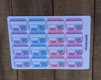 Pastel Online Order Placed - Planner Sticker Sheet