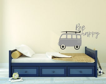 Be Happy Quope - Mural Wall Decal For Home Bedroom Living Room