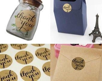 """Etichette/labels 24 pezzi/pieces set  """"thank you"""""""