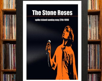 Stone Roses Spike Island Concert Poster