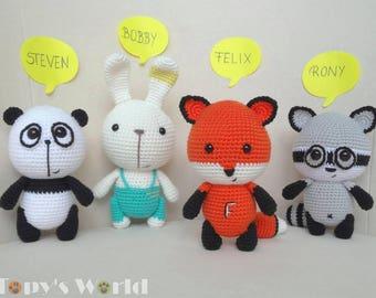 Friends from Topy's World - 4 crochet patterns
