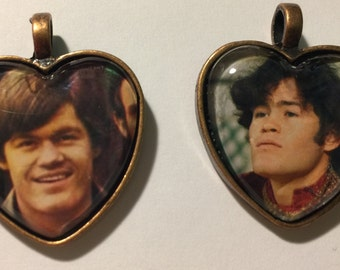 Two Micky Dolenz of the Monkees Photo Pendants