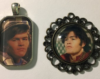 Two Micky Dolenz Photo Pendants