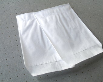 50 8 cm * 11 cm white Kraft gift bags pouches