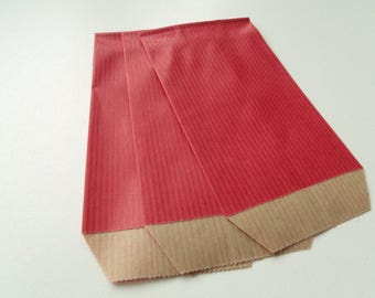 10 7 cm * 12 cm red Kraft gift bags pouches