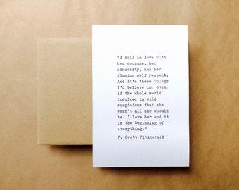 F. Scott Fitzgerald Typewriter Quote 6x4