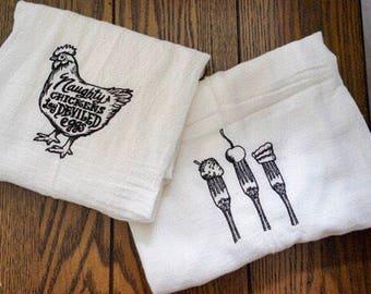Flour Sack Kitchen Towels - Tea Towels