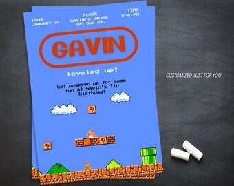 MARIO INVITATION,Mario Brother Invitation,Mario Birthday Invitation,Mario Printable Invitation,Original Mario,Digital File invitation