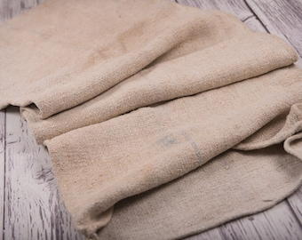 Used Plain Grain Sack Fabric Antique linen Grain Sack from Europe wedding decoration yachting pillow wedding