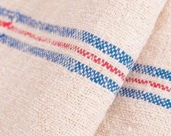 Upholstery Antique European grain sack fabrick hemp natural towels, Tea Towels, rustic home decor