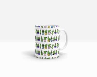 Cactus Mug | Cactus Print Mug | Cactus Coffee Cup | Cactus gift | Succulent Mug |