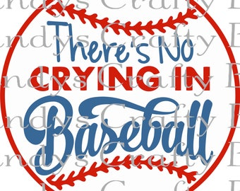 SVG and DXF There's No Crying in Baseball