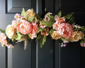 Spring wreath / summer wreath / front door wreath / door wreath / flower wreath / door decor / door wreath
