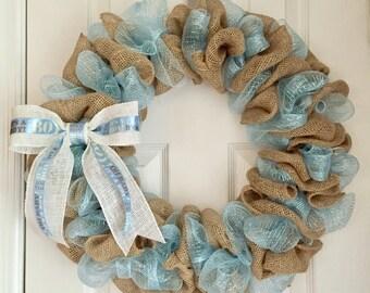 Baby Boy Wreath - Hospital Door Hanger - Baby Girl Wreath - Baby Wreath - Its a Boy Wreath - Its a Girl Wreath - Baby Announcement Gift