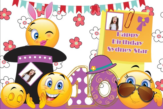 Easter Birthday Party Emoji Poster