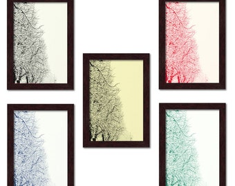 "Poster series ""nature""-snow-covered trees. Digital print 18 x 24 cm"