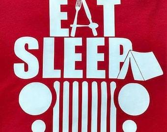FREE SHIPPING...Eat Sleep Jeep Tee